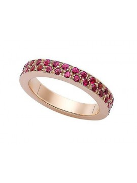 Rose gold ring with rose sapphires