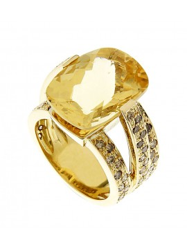 Anillo  de Oro con brillantes Brown