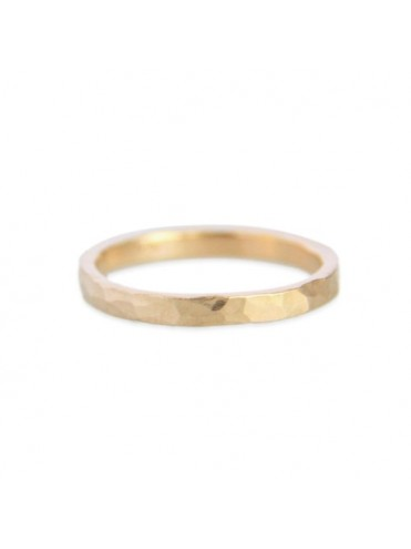 Gold Hammered Wedding Ring