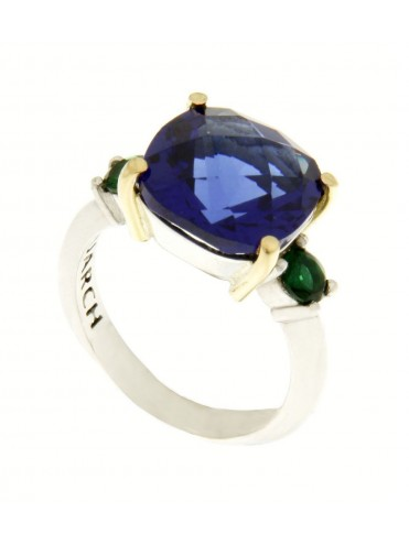 Croma2 ring with blue quartz