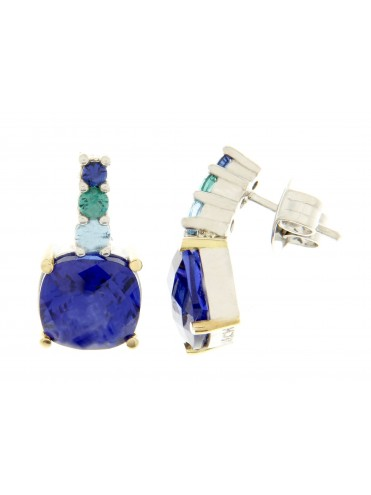 Croma2 earring with blue quartz