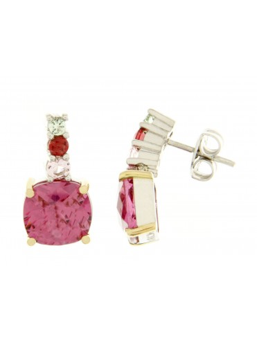 Croma2 earring with pink quartz