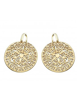 Gold and sterling silver earrings