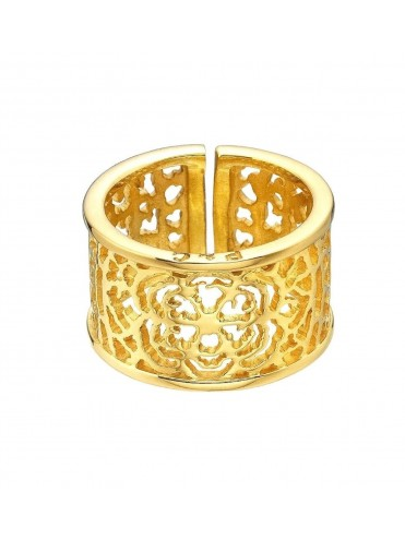 Gold and sterling silver ring