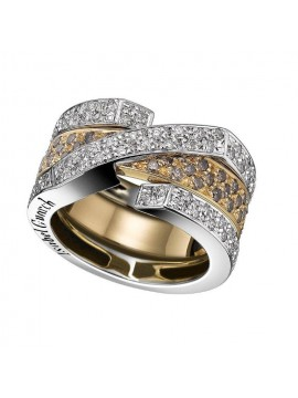 Yellow gold brown diamond ring