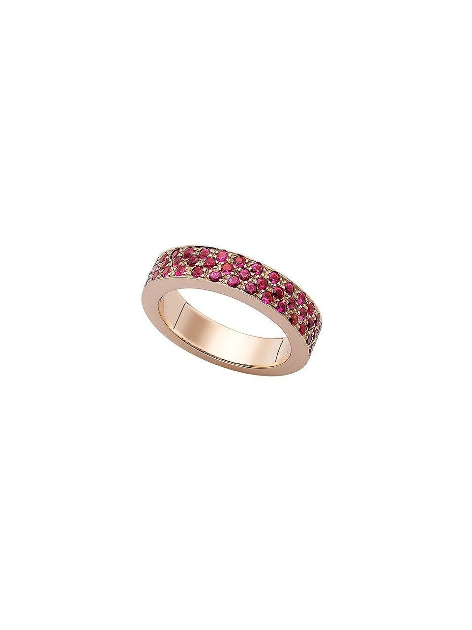 24e814474 Rose gold ring with rose sapphires