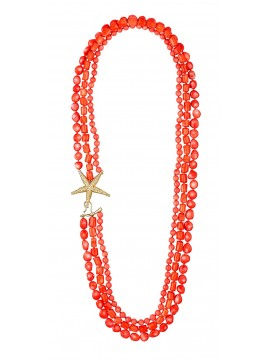 Sterling silver coral necklace