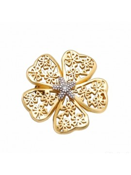Sterling silver diamond brooch