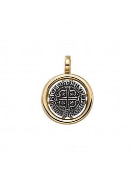 Sterling silver, yellow gold pendant