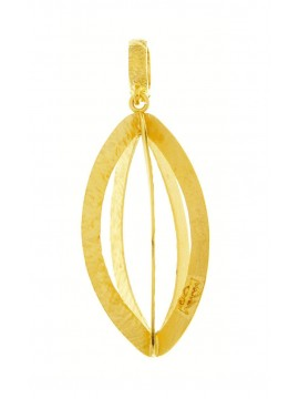 Sterling silver/yellow gold pendant