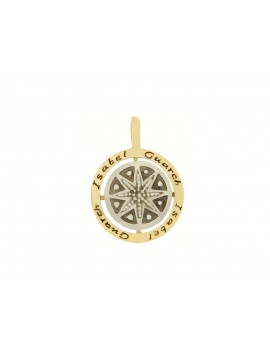 Sterling silver and 18ct yellow gold pendant