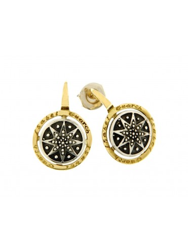 Sterling silver and 18ct gold earrings