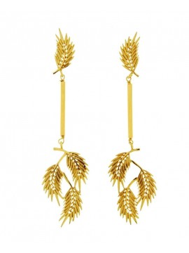 Sterling ailver and gold earrings