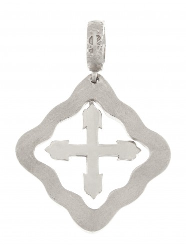 Large silver cross pendant