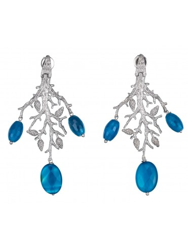 Blue Formentor earrings large