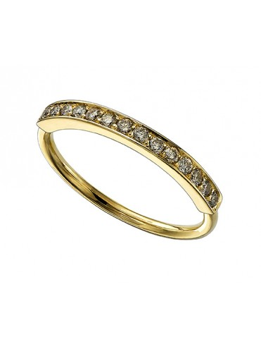 YELLOW GOLD RING AND BROWN DIAMONDS
