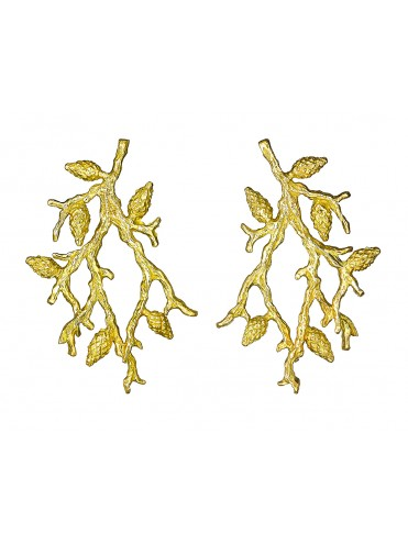 Formentor yellow gold earrings