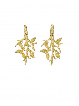 Gold, sterling silver earrings