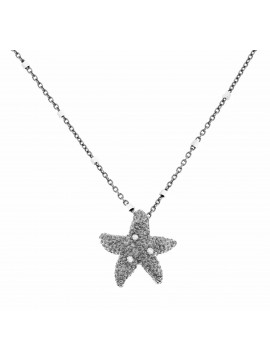 Sterling silver pendant with diamond effect chain