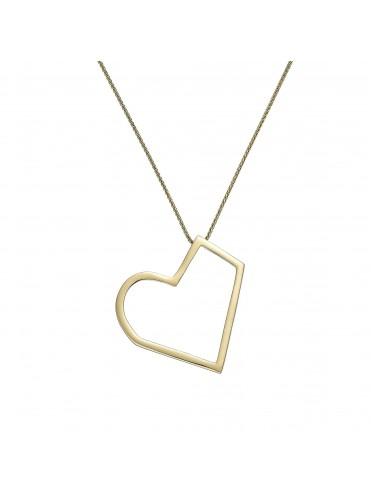 Heart Pendant of gold of 18 kts. With chain
