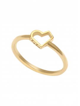 Yellow gold Happy heart ring