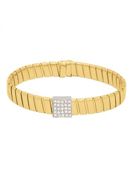 Yellow gold bracelet and brilliants