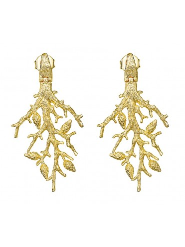 Large golden Formentor earrings