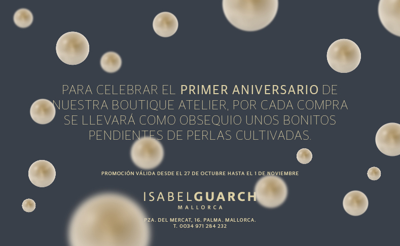Anniversary week at Isabel Guarch